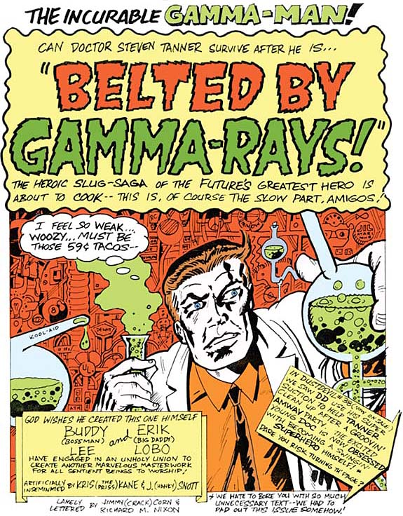 Gamma Man 'Belted' page 1